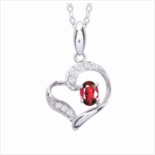 Lazo Diamond 9K White Gold Diamond & Ruby Pendant – PP4698R)