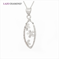 Lazo Diamond 9K White Gold Pendant - 8P2031)