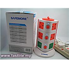 Safemore 3 Layer 10 UK Sockets c/w 4 USB, Overload Protection & SIRIM