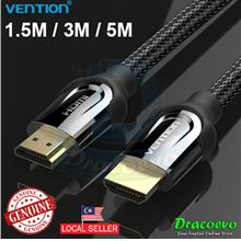 Vention 2.0 HDMI Cable Zinc Alloy Shell Gold Plated Nylon 4k 60Hz