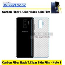 Carbon Fiber Rear Back Skin Protector Samsung Galaxy Note 9 (Clear)