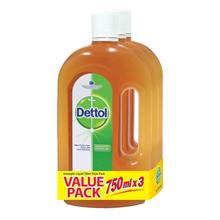 DETTOL Antiseptic Liquid 3x750ml)