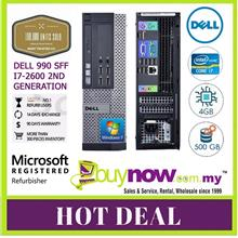 Dell optiplex 990 SFF, Core i7-2600 @ 3.4ghz , 4GB, 500GB Free WiFi