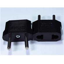 2 Pin AC Travel Power Adapter Plug Converter (US to EU)
