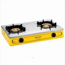 Butterfly Stainless Steel Double Gas Stove - BGC-923)