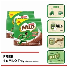 NESTLE MILO 3IN1 ACTIV-GO 18 Sticks , Buy 2 Free 1 Milo Tray)