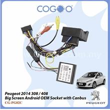 COGOO Big Screen Android OEM Socket for Peugeot'14 308/408 with Canbus