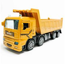 Dump Truck 1:50 Die-cast Yellow Model with Box Collection New Gift
