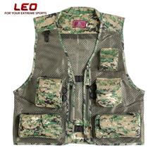 LEO 27913 - DC Outdoor Fishing Hunting Mesh Vest with Multiple Pockets