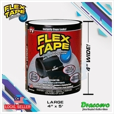 4' x 5' Wide Flex Tape Strong Rubberized Waterproof Tape Hose Repair