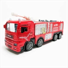 Fire Truck 1:50 Die-cast Red Model with Box Collection New Gift