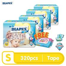 DIAPEX Easy Wonder Tape Baby Diapers Mega (M70, L60, XL50, XXL40))