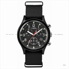 TIMEX TW2R67700 (U) Military Aluminium chrono slip-thru nylon black
