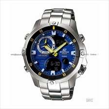 CASIO EMA-100D-2AV EDIFICE Ana-Digi tide graph thermo SS bracelet blue