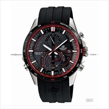 CASIO EQS-A500B-1AV EDIFICE solar chronograph resin strap black