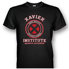X-men Xavier Institute T-shirt Red/Silver Print