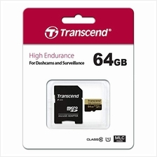 TRANSCEND 64GB TF HC10 HIGH ENDURANCE + ADAPTER MEMORY CARD (TS64GUSDXC10V)