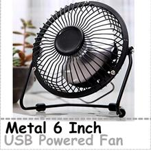 Mini Portable USB Fan Desk Cooling Fan 6 Inch Fan USB Powered