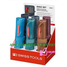 PB 8218 Screwdriver set with interchangeable blades in a roll-up case