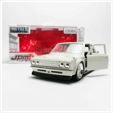 Jada 1:32 JDM Tuners Die-Cast 1973 Datsun 510 Widebody Car White Model Collect