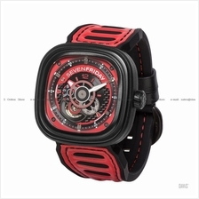 SEVENFRIDAY P3B/06 Automatic Racing Team Red NFC Leather Silicone