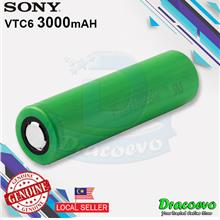 Authentic Sony 18650 VTC6 Battery 3000mah 30A Top Flat Vape E-Cig