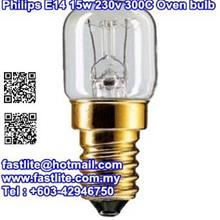 Philips E14 15w 235v 300C T22 clear Oven bulb
