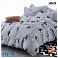 Essina Selena Forest Microfiber Plush Fitted Bedsheet Set)