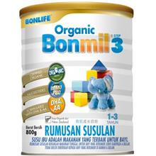Bonlife Organic Bonmil Step 3 (1-3 years) 800g [6 tin combo] - 16%)