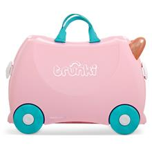 Trunki Ride-On Little Luggage for Little People - Flossi the Flamingo)