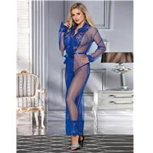 CELLY Long Sleepwear Blue Delicate Lace Gown (CSOH R80507-4)
