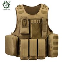 Protector Plus Outdoor Tactical Combat Military Protective Vest (BROWN)