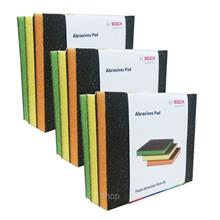 [Set of 3] Bosch 3 In 1 Abrasive Color Foam Pad - 061880008M)