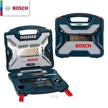 Bosch 100pcs X-Line Titanium Set For Wood Masonry Metal (Blue) - 2607017397)