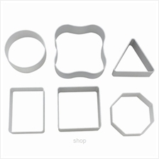 Fackelmann Set of 6 Basic Design AL Alloy Cookie Cutters - 5236381