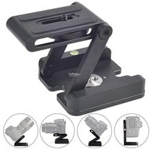 Tilt Head Aluminum Alloy Z Type Foldable Quick Release Plate Stand Hol