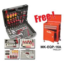 [FREE GIFT] Mr Mark 130pcs Tools Kit Set (Aluminium Case) MK-EQP-392 FREE MK-E)