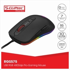 CLiPtec TAUSONOT USB RGB 4800dpi Pro-Gaming Mouse RGS575