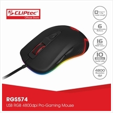 CLiPtec TAURINOT USB RGB 4800dpi Pro-Gaming Mouse RGS574