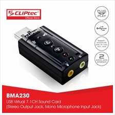 CLiPtec U-SOUND USB 7.1CH Virtual Sound Card BMA230)