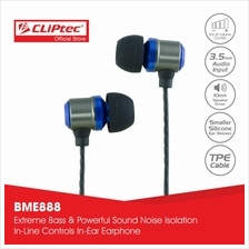 CLiPtec BLACK PARTY In-Ear Earphone with Mic.  & Volume Control BME888