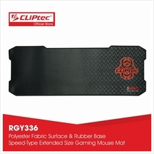 CLiPtec SAURIS Gaming Mouse Mat-RGY336 (Black)