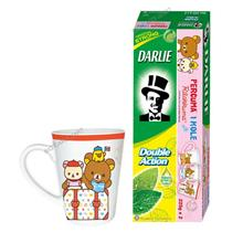 Darlie Double Action Toothpast 225gX2 + 1 Rilakkuma Cup