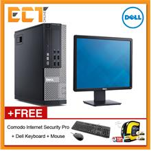 (Refurbished) Dell Optiplex 9020 SFF Business Desktop + Dell E1913S