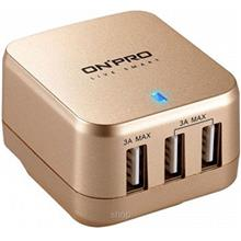 Onpro USB 3 Ports AC Charger Come with Universal Plug - UC-3P01W)