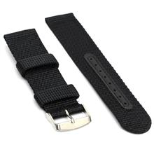 16mm 18mm 20mm 22mm 24mm Black Military Nato Nylon Watch Strap Band
