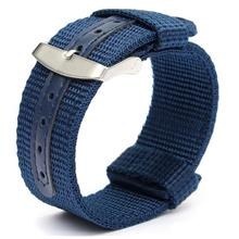 16mm 18mm 20mm 22mm 24mm Blue Military Nato Nylon Watch Strap Band