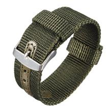 16mm 18mm 20mm 22mm 24mm Green Military Nato Nylon Watch Strap Band