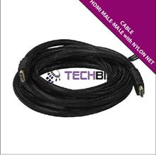HDMI25 – HDMI (M) to HDMI (M) cable with Nylon Net; Version 1.4