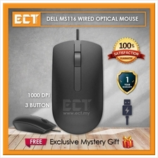 Dell MS116 USB 3 Button Optical Mouse with 1000dpi Sensitivity